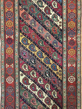 "Load image into Gallery viewer, Magnificent Moharramati - 1900s Antique Shirvan Runner - Caucasian Rug - 3'5"" x 9' ft"