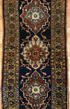 "Load image into Gallery viewer, Amazing Azerbaijani - 1910s Antique Kurdish Rug - Tribal Runner - 2'11"" x 10'2"" ft."