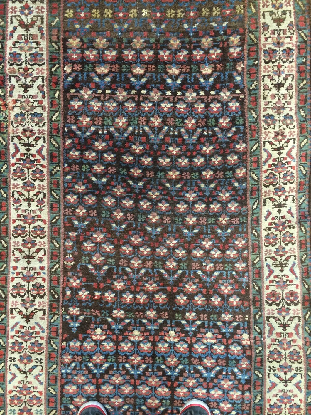 Tremendous Tribal - 1900s Antique Kurdish Runner - Persian Rug - 3'2