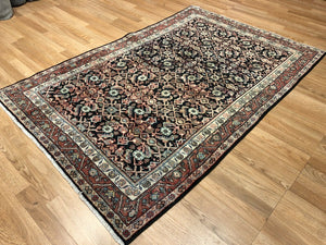 "Marvelous Mahal - 1920s Antique Persian Rug - Tribal Carpet - 4'3"" x 6'5"" ft."