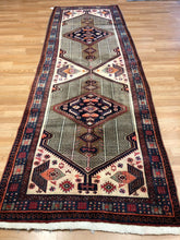 "Load image into Gallery viewer, Special Serab - 1960s Vintage Persian Rug - Camel Hair Runner 3'4"" x 10' ft."