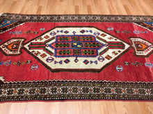 "Load image into Gallery viewer, Terrific Tribal - 1940s Antique Kurdish Rug - Persian Carpet - 4'4"" x 8'1"" ft."