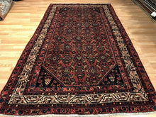 "Load image into Gallery viewer, Handsome Hamadan - 1920s Antique Persian Rug - Tribal Gallery - 5'4"" x 9'8"" ft."