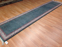 "Load image into Gallery viewer, Genuine Green - Floral Mir Design Rug - Oriental Indian Runner 2'6"" x 11'3"" ft."