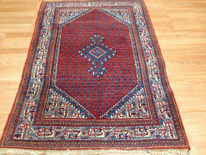 "Selective Serapi - 1920s Antique Persian Rug - Tribal Carpet - 3'6"" x 5' ft."