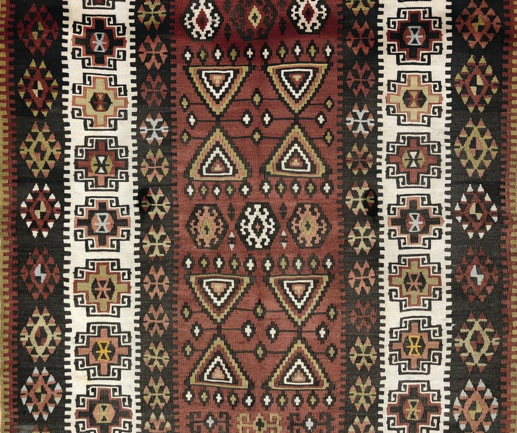 "Amazing Anatolian - 1940s Antique Turkish Rug - Tribal Kilim - 3'6"" x 5'4"" ft."