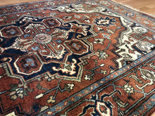 "Load image into Gallery viewer, Intricate Indian - Vintage Oriental Rug - Tribal Carpet - 4' x 5'10"" ft."