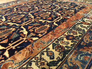 "Marvelous Malayer - 1930s Antique Persian Rug - Tribal Carpet - 4'3"" x 6'6"" ft."