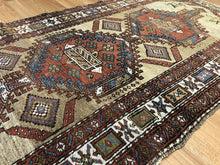 "Load image into Gallery viewer, Special Serab - 1910s Antique Persian Rug - Camel Hair Runner - 2'11"" x 6'10"" ft."