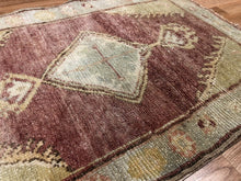 Load image into Gallery viewer, Opulent Oushak - 1960s Vintage Turkish Rug - Tribal Carpet - 2' x 3' ft.