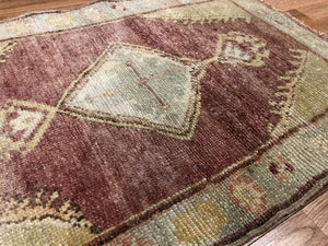 Opulent Oushak - 1960s Vintage Turkish Rug - Tribal Carpet - 2' x 3' ft.