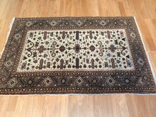 "Load image into Gallery viewer, Amazing Ardebil - 1960s Vintage Persian Rug - Tribal Carpet - 3' x 4'5"" ft."