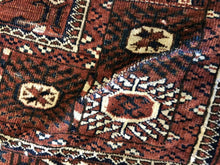 "Load image into Gallery viewer, Tremendous Turkmen - 1920s Tekke Gul Bokhara Rug - Tribal Carpet - 3'7"" x 5'4"" ft"
