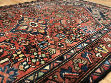 "Load image into Gallery viewer, Handsome Hamadan - 1920s Antique Persian Rug - Tribal Carpet - 4'1"" x 6'2"" ft."