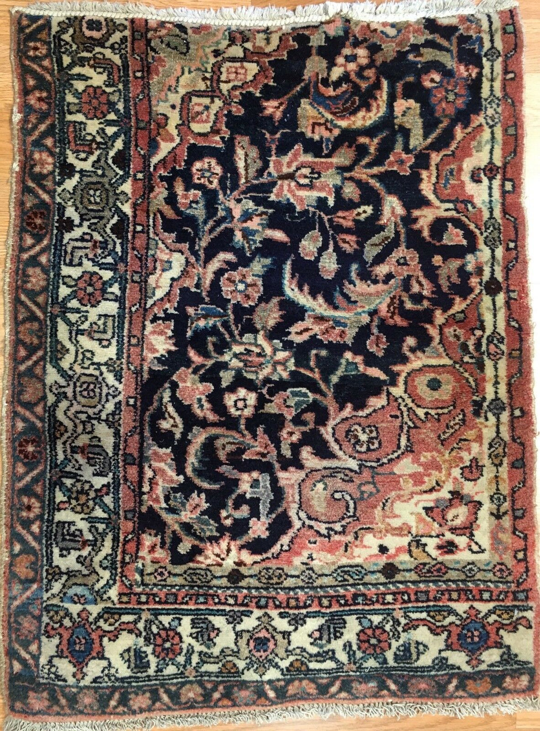 Whimsical Wagireh - 1910s Antique Kurdish Rug - Persian Koliaei Carpet - 2'2