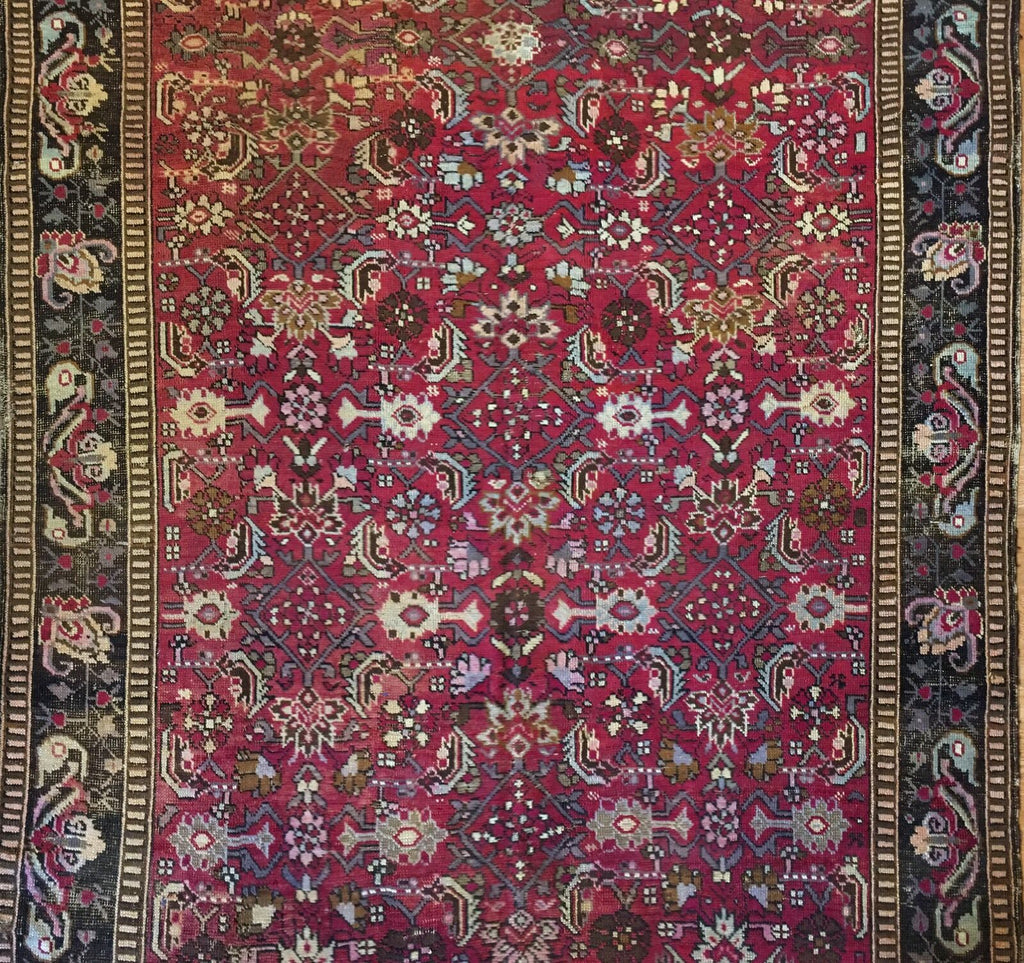 "Amazing Armenian - 1880s Antique Karabagh Rug - Caucasian Carpet - 5'3"" x 9'3"" ft."