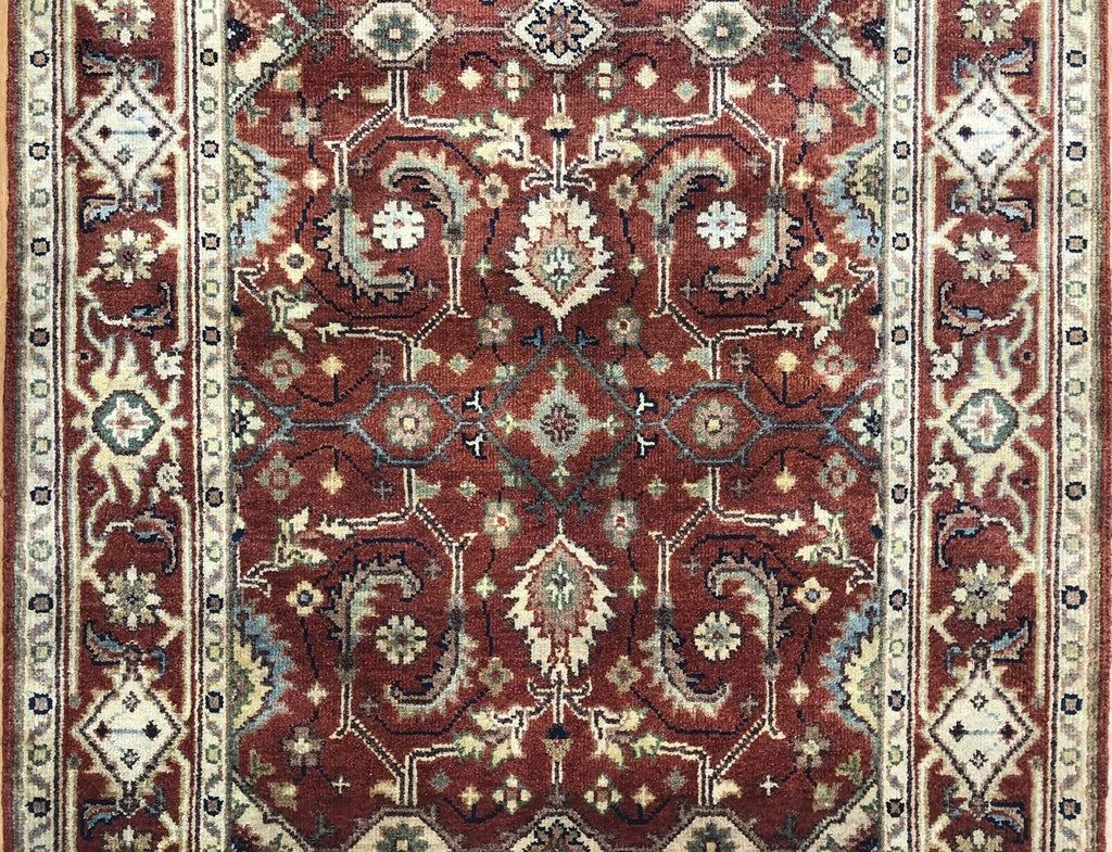 "Intricate Indian - Persian Serapi Design - Tribal Rug - 4' x 6'2"" ft."