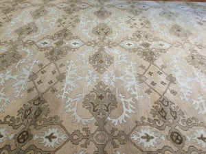 Tremendous Taupe - Modern Contemporary Rug - Transitional Indian Carpet 10' x 14' ft.