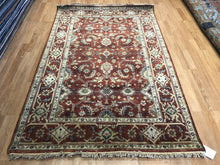 "Load image into Gallery viewer, Intricate Indian - Persian Serapi Design - Tribal Rug - 4' x 6'2"" ft."