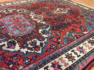"Beautiful Bakhtiari - 1940s Antique Persian Rug - Tribal Carpet - 3'9"" x 5'7"" ft."
