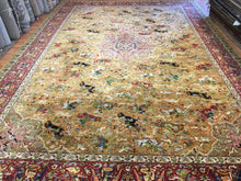 "Load image into Gallery viewer, Tremendous Tetex - 1930s Antique German Rug - Large Hunting Scene 11'6"" x 17'2"" ft."