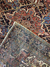 "Load image into Gallery viewer, Handsome Heriz - 1910s Antique Persian Rug - Tribal Carpet - 9'9"" x 13'2"" ft"