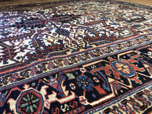 "Load image into Gallery viewer, Handsome Heriz - 1920s Antique Persian Rug - Tribal Carpet - 7'5"" x 9'6"" ft."