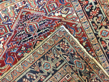 "Load image into Gallery viewer, Handsome Heriz - 1920s Antique Persian Rug - Tribal Carpet - 5' x 6'9"" ft."