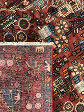 "Load image into Gallery viewer, Handsome Hamadan - 1940s Antique Persian Rug - Kurdish Carpet - 4'8"" x 7'5"" ft."