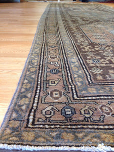 "Marvelous Malayer - 1940s Antique Persian Rug - Gallery Runner - 4'8"" x 13'2"" ft."