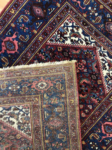 "Marvelous Malayer - 1900s Antique Persian Rug - Tribal Carpet - 4'3"" x 6'10"" ft."
