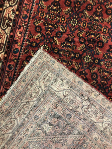 "Handsome Hamadan - 1920s Antique Persian Rug - Tribal Gallery - 5'4"" x 9'8"" ft."