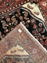 "Load image into Gallery viewer, Handsome Herati - 1940s Vintage Malayer Rug - Tribal Carpet - 5'5"" x 6'4"" ft."