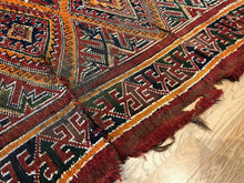 "Load image into Gallery viewer, Maghreb Moroccan - 1920s Antique Tribal Rug - Pre World War 1 - 6'3"" x 11'1"" ft."