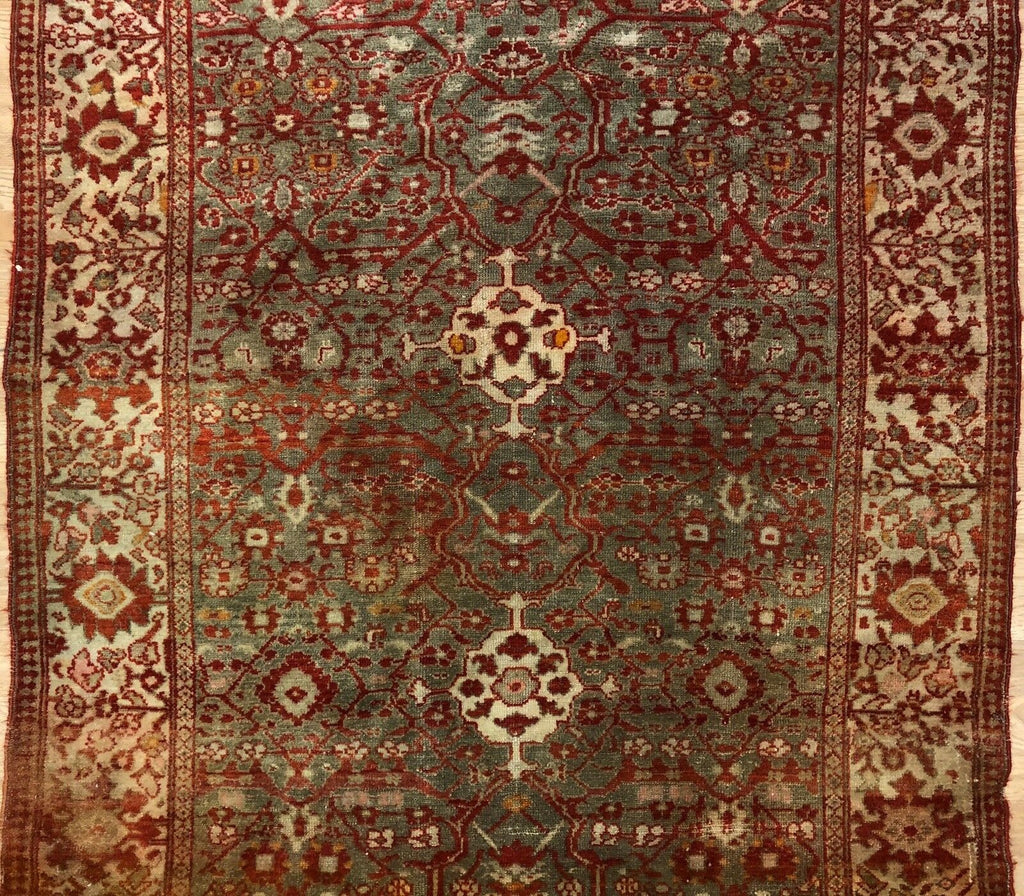 "Mishan Malayer - 1910s Antique Persian Rug - Tribal Carpet - 4' x 6'6"" ft."