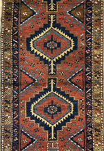 "Load image into Gallery viewer, Tremendous Tribal - 1920s Antique Kurdish Rug - Oriental Runner - 3'3"" x 10'3"" ft."