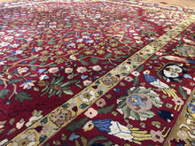 "Load image into Gallery viewer, Tremendous Tetex - 1940s Antique German Rug - Hooked Carpet - 8'3"" x 10'9"" ft."