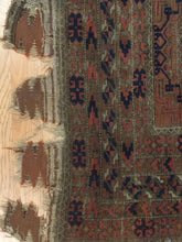"Load image into Gallery viewer, Selective Saryk - 1870s Antique Balouch Rug - Oxidized Persian Carpet - 3'5"" x 6'2"" ft."
