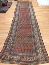 "Load image into Gallery viewer, Special Seraband - 1900s Antique Mir Rug - Tribal Runner - 3'3"" x 14'9"" ft."