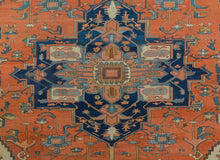"Load image into Gallery viewer, Special Serapi - 1890s Antique Persian Rug - Tribal Carpet - 13' x 18'3"" ft."