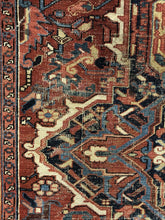 "Load image into Gallery viewer, Handsome Heriz - 1920s Antique Persian Rug - Tribal Carpet - 9'8"" x 13' ft."