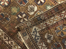 "Load image into Gallery viewer, Classic Caucasian Carpet - 1980s Antique Tribal Rug - 3'3"" x 4'10"" ft."