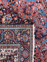 "Load image into Gallery viewer, Handsome Heriz - 1920s Antique Persian Rug - Tribal Square Carpet - 10'3"" x 10'7"" ft."