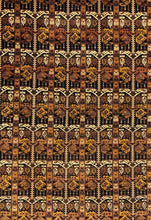 Load image into Gallery viewer, Beautiful Bokhara - 1940s Antique Persian Rug - Tribal Carpet - 7' x 10' ft.