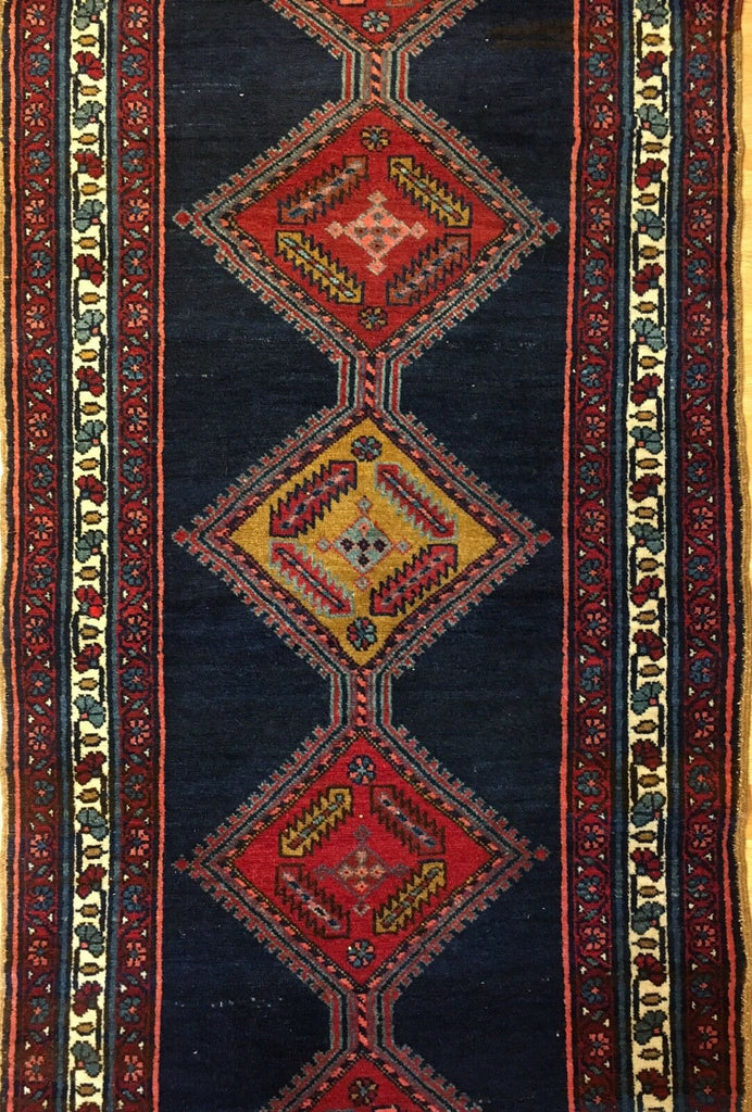 "Amazing Azerbaijani - 1910s Antique Kurdish Rug - Persian Runner - 3' x 13'2"" ft."