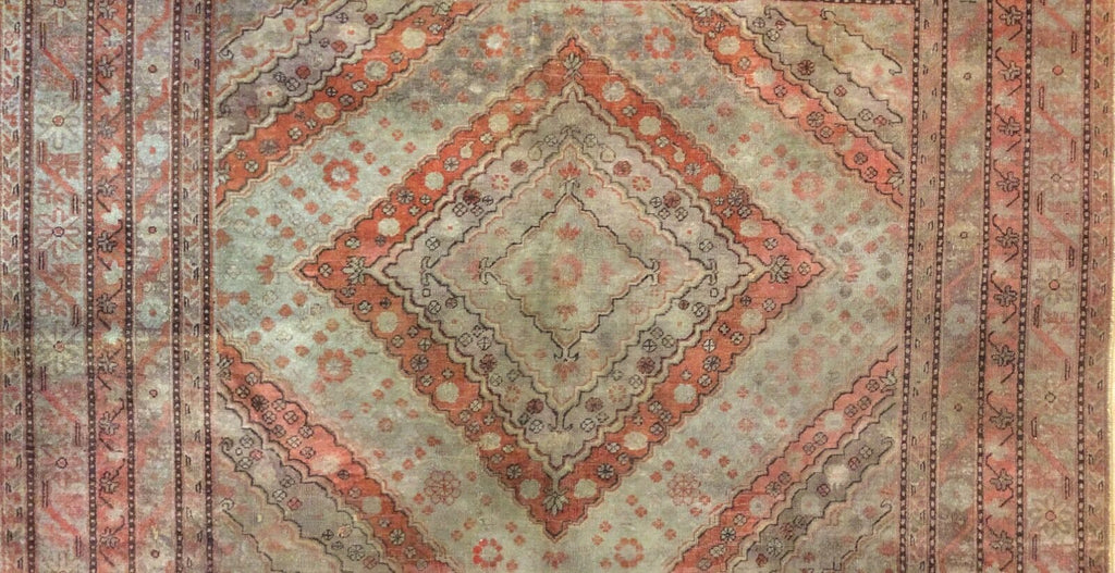 "Superb Samarkand - 1900s Antique Khotan Rug - Oriental Carpet - 6'10"" x 13'3"" ft."