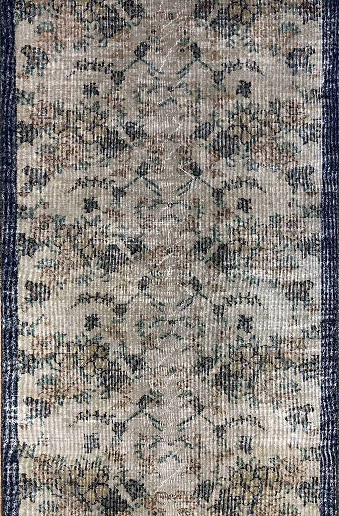 "Opulent Oushak - 1940s Vintage Turkish Rug - Tribal Carpet - 3'1"" x 6' ft."