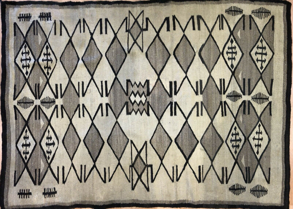 "Nifty Navajo - Transitional Tribal Rug - Native American Flatweave - 5'2"" x 7'1"" ft."