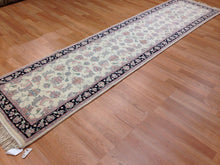"Load image into Gallery viewer, Interesting Ivory - Floral Design Rug - Oriental Indian Runner - 2'5"" x 9'7"" ft."