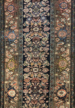 "Load image into Gallery viewer, Tremendous Tribal - 1900s Antique Kurdish Runner - Persian Herati Rug - 3'3"" x 15'6"" ft."